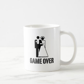 Game Over Bride Groom Wedding Basic White Mug
