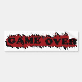 GAME OVER BUMPER STICKER
