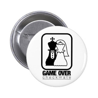 Game Over Check Mate 6 Cm Round Badge