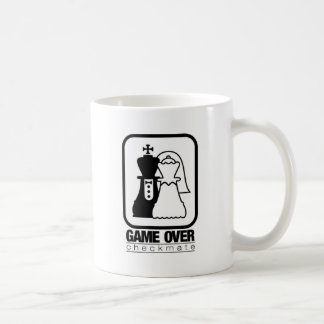 Game Over Check Mate Basic White Mug