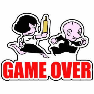 Game Over Couples Photo Sculpture Magnet