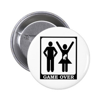 Game Over - Dad To Be 6 Cm Round Badge