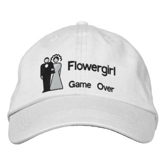 Game Over - Flowergirl Embroidered Baseball Caps