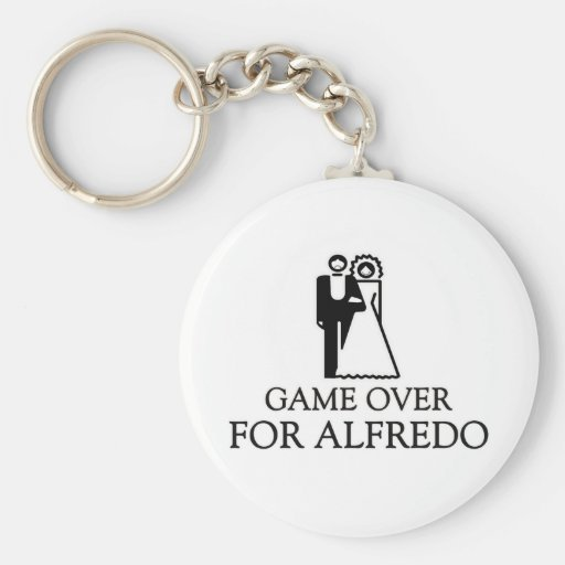 Game Over For Alfredo Key Chain