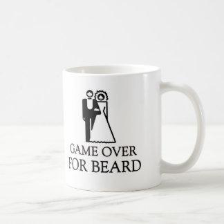 Game Over For Beard Basic White Mug