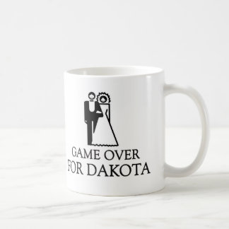 Game Over For Dakota Basic White Mug