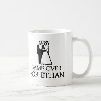 Game Over For Ethan Basic White Mug