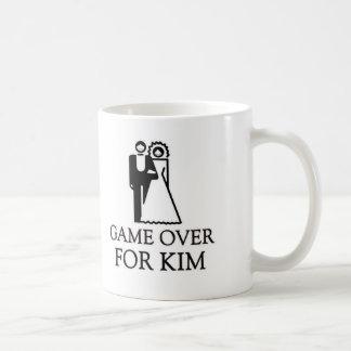 Game Over For Kim Basic White Mug