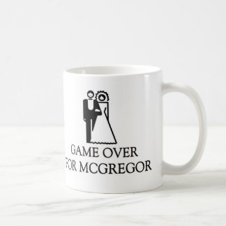 Game Over For Mcgregor Basic White Mug