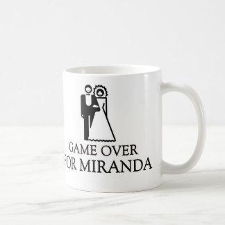Game Over For Miranda Basic White Mug