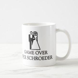 Game Over For Schroeder Basic White Mug