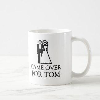 Game Over For Tom Basic White Mug