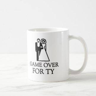 Game Over For Ty Basic White Mug