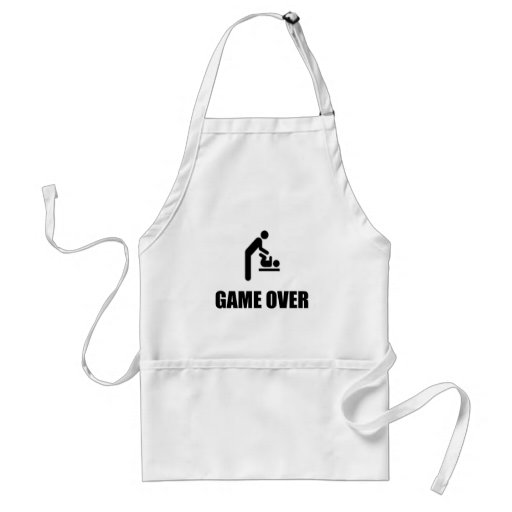 Game Over Funny Father's Day Aprons