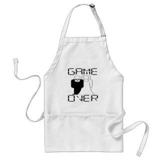 GAME OVER Funny Wedding Design Aprons