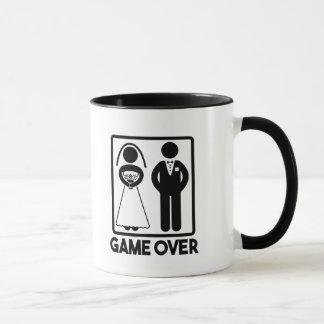 Game Over funny wedding mug