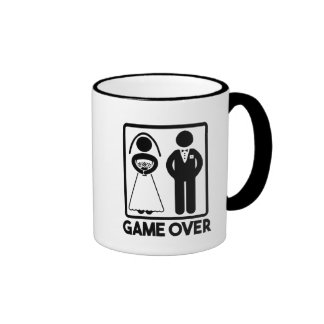 Game Over funny wedding mug
