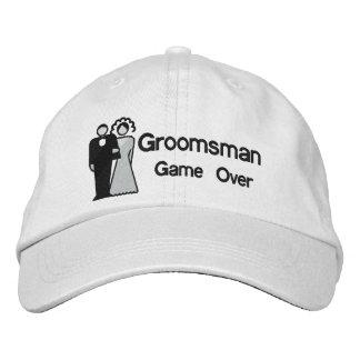 Game Over - Groomsman Embroidered Baseball Caps