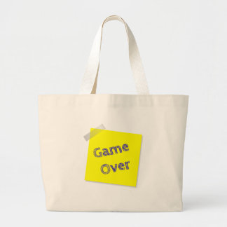 Game over large tote bag
