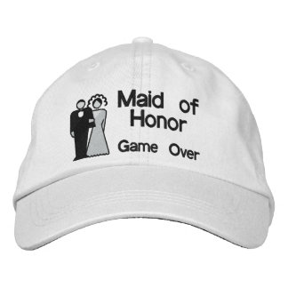 Game Over - Maid of Honor Embroidered Hats