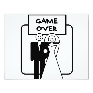 """""""Game Over"""" marriage 11 Cm X 14 Cm Invitation Card"""