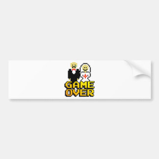 Game over marriage (8-bit) bumper stickers