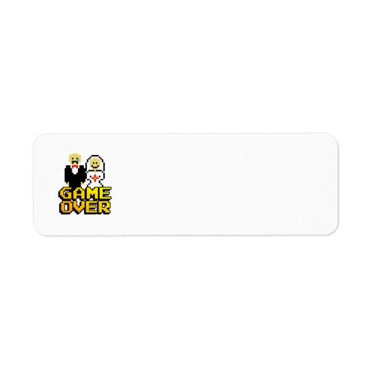 """""""Game Over"""" Marriage (8-bit labels) Return Address Label"""