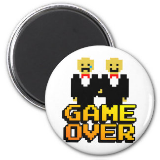 Game Over Marriage Gay 8-bit Fridge Magnets
