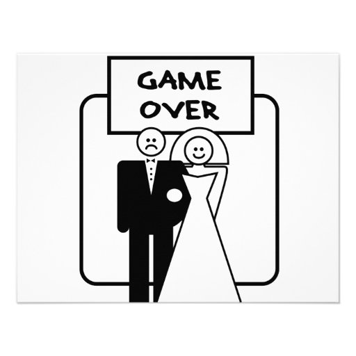 """Game Over"" marriage Custom Announcement"