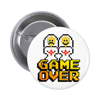 Game Over Marriage (Lesbian, 8-bit) 6 Cm Round Badge