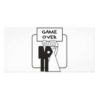 Game Over Marriage Personalized Photo Card