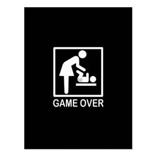 Game Over Mom Humorous Signage Postcard