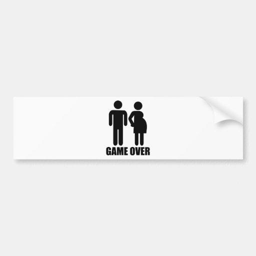 Game over Pregnancy Bumper Sticker