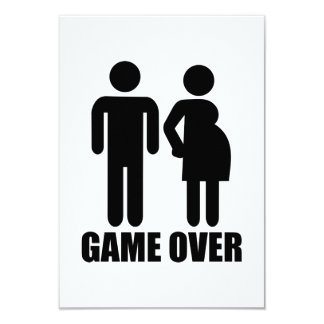 Game over Pregnancy Custom Announcements