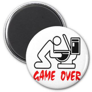 Game Over Puking 6 Cm Round Magnet