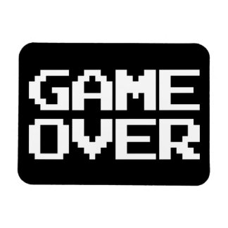 Game Over Rectangular Photo Magnet