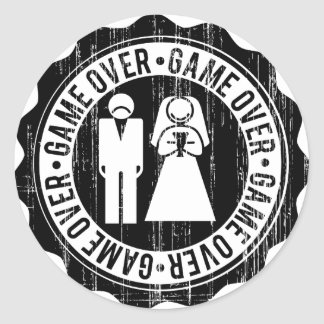game over used round sticker