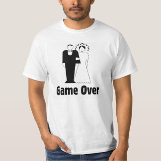 Game Over. Wedding, marriage funny t-shirt