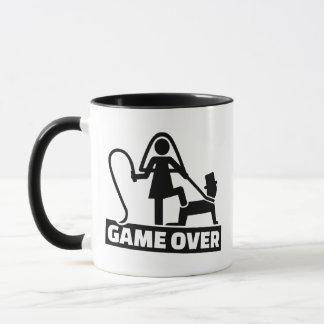 Game over wedding mug