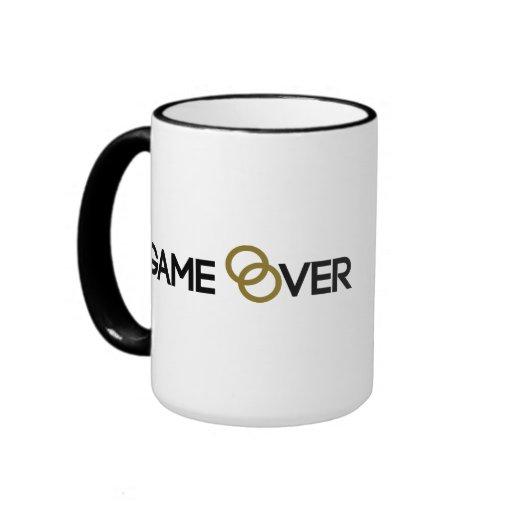 Game over Wedding rings Coffee Mugs