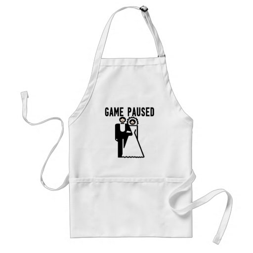 Game Paused Aprons