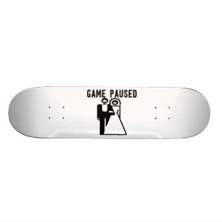 Game Paused Bride & Groom 20 Cm Skateboard Deck