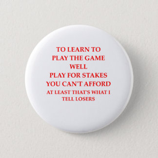 game player 6 cm round badge