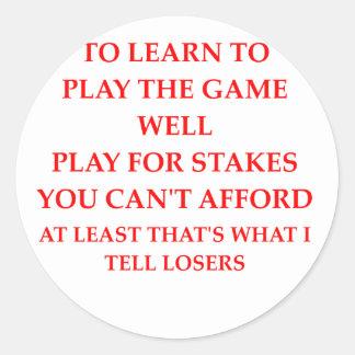 game player classic round sticker