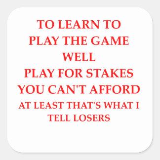 game player square sticker