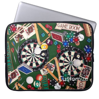 Game Room Darts Billiards Cards Laptop Sleeve