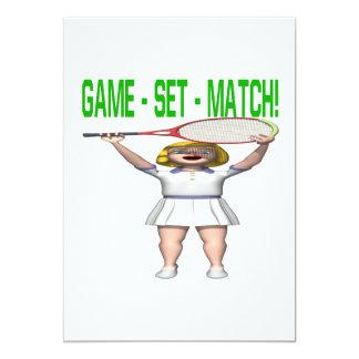 Game Set Match 13 Cm X 18 Cm Invitation Card