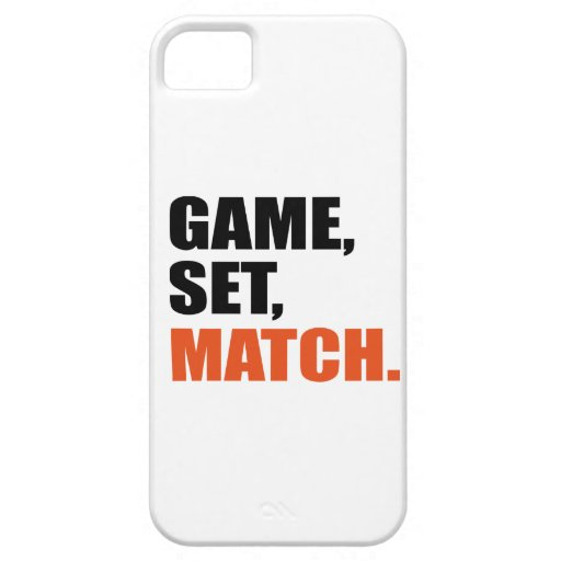 Game set match iPhone 5 covers