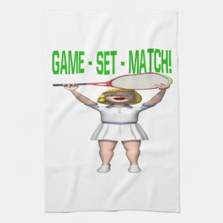 Game Set Match Kitchen Towel