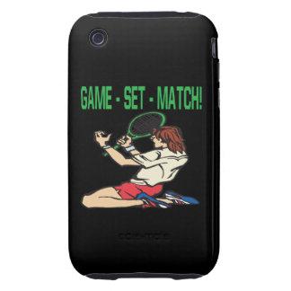 Game Set Match Tough iPhone 3 Cases